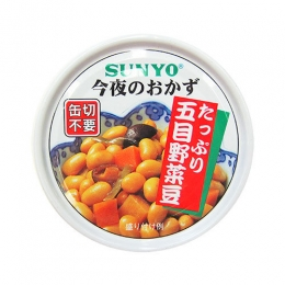 Sunyo Gomoku Yasai Mame(Mixed Seasoned Vegetables & Soy Beans) Can 70g