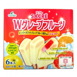 FUTABA Sacre W Grapefruits Ice Bars (55mlx6pcs)