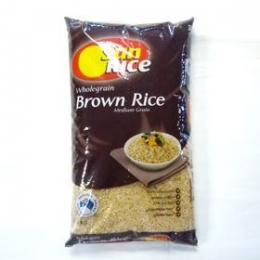 Sun Rice Brown Medium Rice 5kg